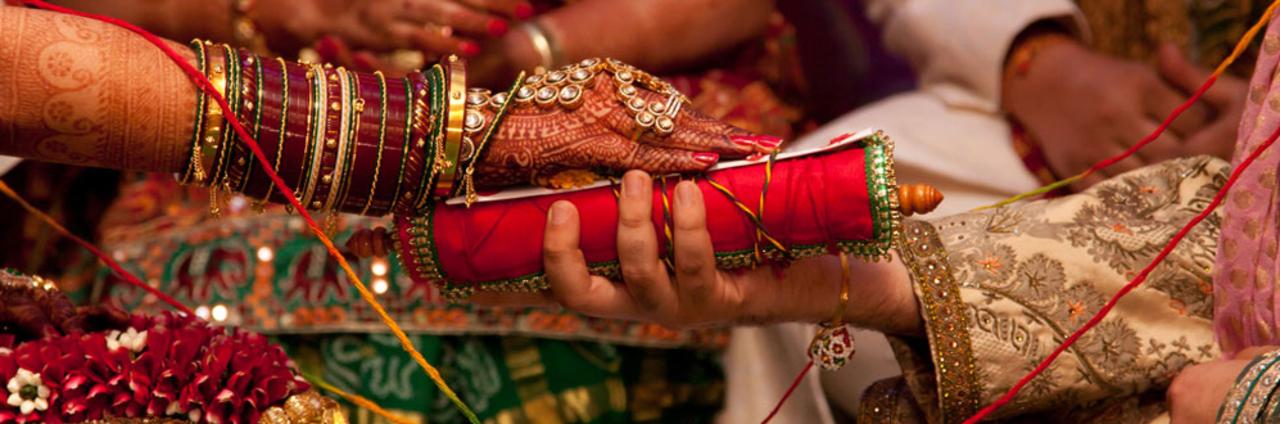 Hand ritual wedding