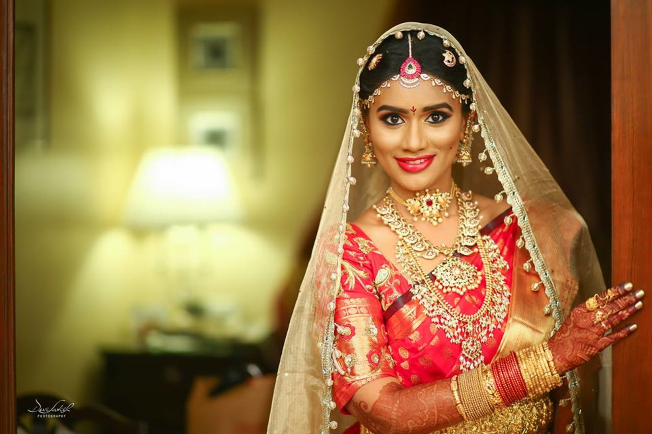 Bridal Portraits photography by Devi Satish Photography