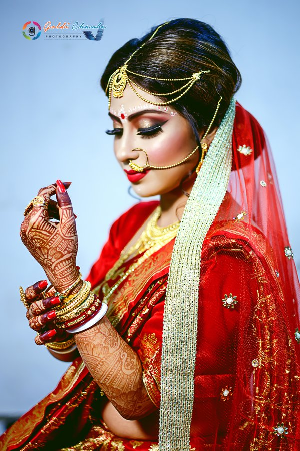 Bridal Portraits photography by Goldi Chawla Photography
