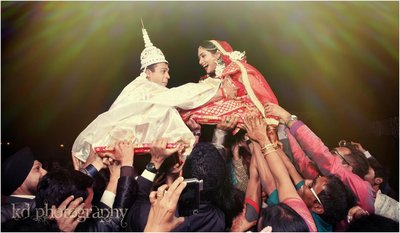 Fun Creative Wedding photography by Kundan De
