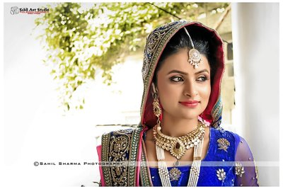 Bridal Portraits photography by Sahil Art Studio